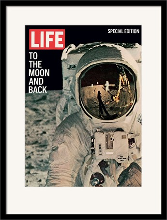 Black Wooden Framed Life Cover - To the Moon and Back - Time Life