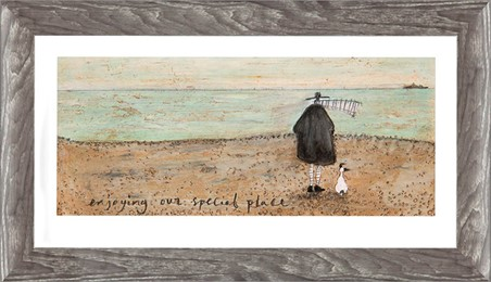 Wooden Framed Enjoying our Special Place - Sam Toft