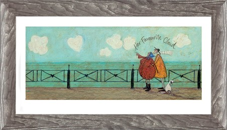 Wooden Framed Her Favourite Cloud II - Sam Toft