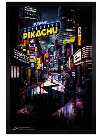 Black Wooden Framed Teaser - Detective Pikachu