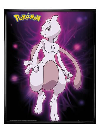 Gloss Black Framed Mewtwo Neon - Pokemon