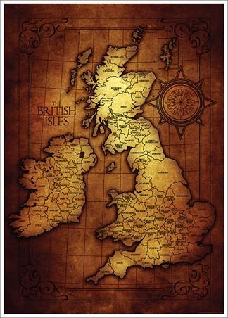 The British Isles Map, Vintage