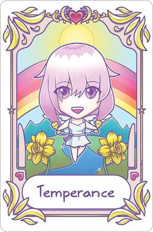 Kawaii Temperance - Deadly Tarot