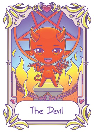 The Devil - Deadly Tarot Kawaii