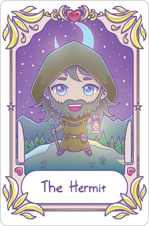 The Hermit - Deadly Tarot Kawaii