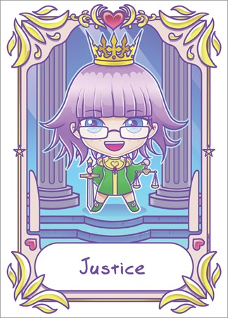 Justice - Deadly Tarot Kawaii