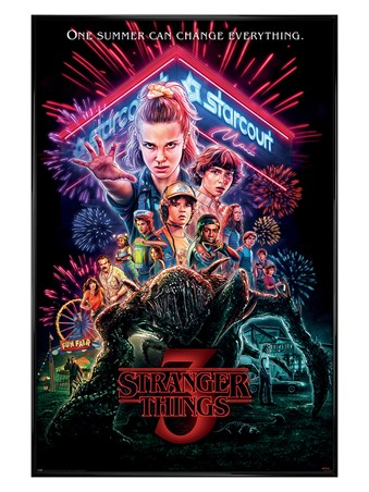 Gloss Black Framed Summer of 85 - Stranger Things