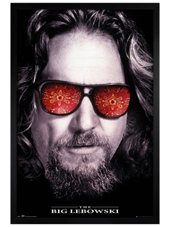 Black Wooden Framed The Dude - The Big Lebowski