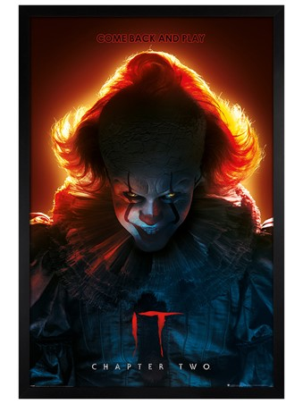 Black Wooden Framed Come Back and Play - IT Chapter Two