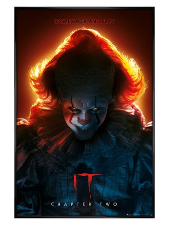 Gloss Black Framed Come Back and Play - IT Chapter Two