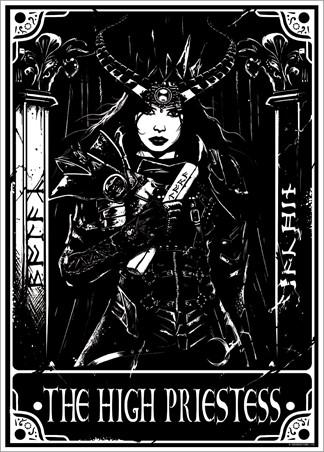 The High Priestess - Deadly Tarot