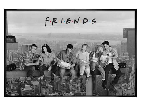 Gloss Black Framed Skyscraper - Friends