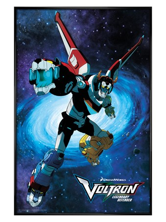Gloss Black Framed Legendary Defender - Voltron