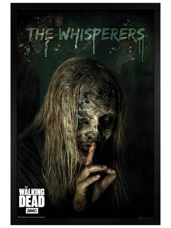 Black Wooden Framed The Whisperers - The Walking Dead