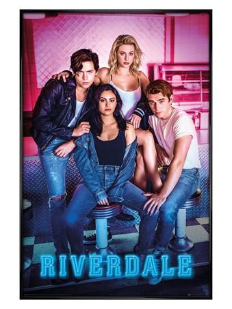 Gloss Black Framed Characters - Riverdale
