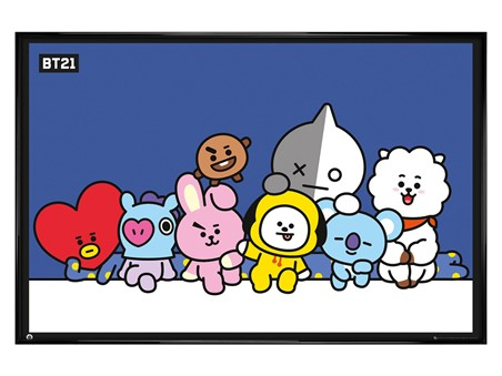Gloss Black Framed Group Shot! - BT21