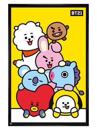 Gloss Black Framed Pileup - BT21