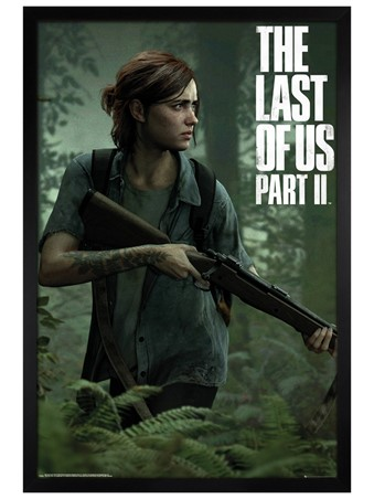 Black Wooden Framed Ellie - The Last of Us 2