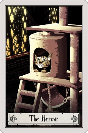 The Hermit - Deadly Tarot Felis