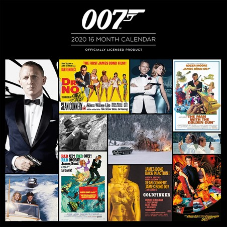James Bond 2020 Square Calendar, 007