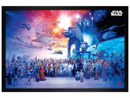 Black Wooden Framed Universe - Star Wars