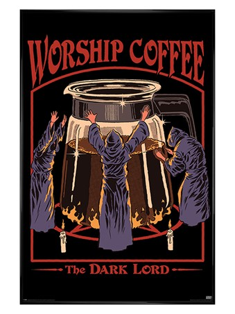 Gloss Black Framed Worship Coffee - Steven Rhodes
