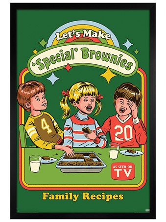 Black Wooden Framed Let's Make Special Brownies - Steven Rhodes