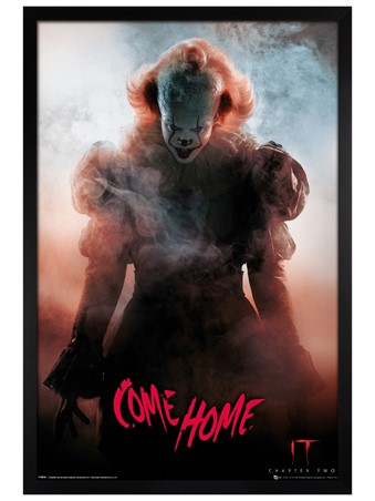 Black Wooden Framed Come Home - IT Chapter 2