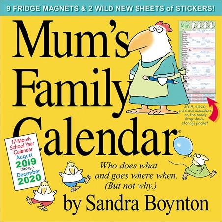 Mum's Family Calendar - Sandra Boynton