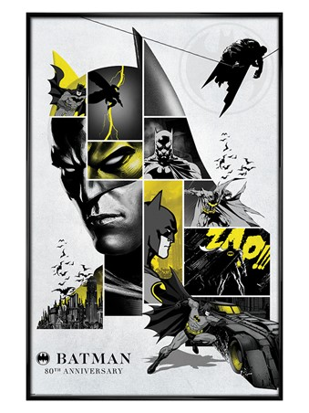 Gloss Black Framed 80th Anniversary - Batman