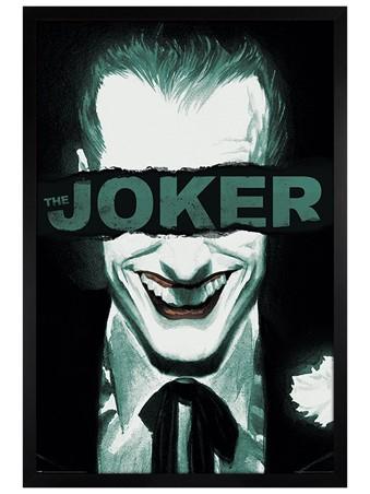 Black Wooden Framed Put on a Happy Face - The Joker
