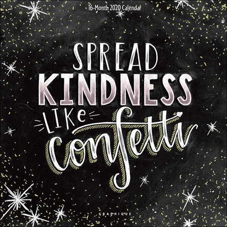 Spread Kindness Like Confetti - Chalkboard Quotes