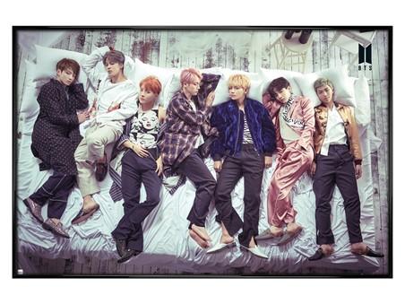 Gloss Black Framed Bed - BTS Group