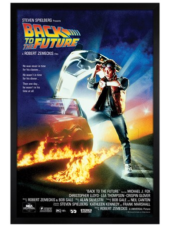 Black Wooden Framed Back to the Future Movie Score Framed Poster