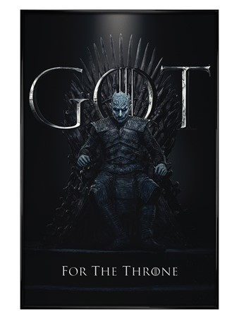 Gloss Black Framed The Night King For The Throne - Game Of Thrones