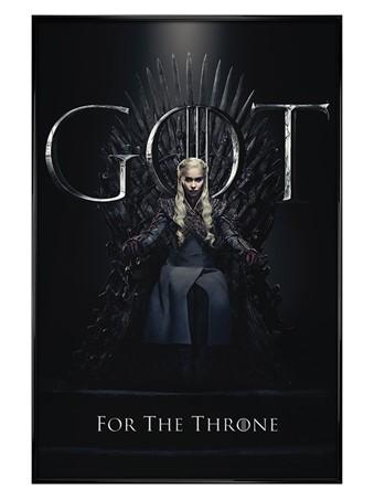 Gloss Black Framed Daenerys For The Throne - Game Of Thrones