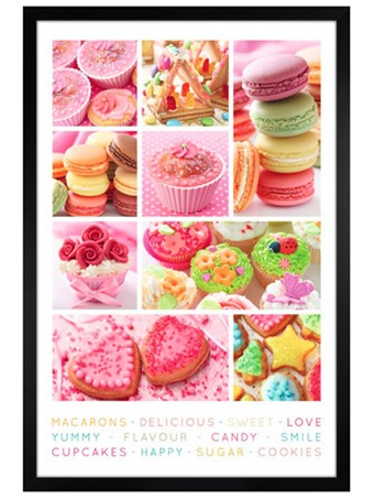 Black Wooden Framed Sweet Collage - Cakes Galore