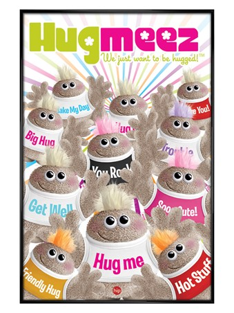 Gloss Black Framed Hug Meez - Soo Cute!