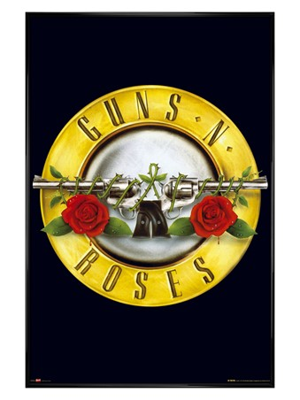 Gloss Black Framed Guns 'N' Roses Logo - Guns 'N' Roses