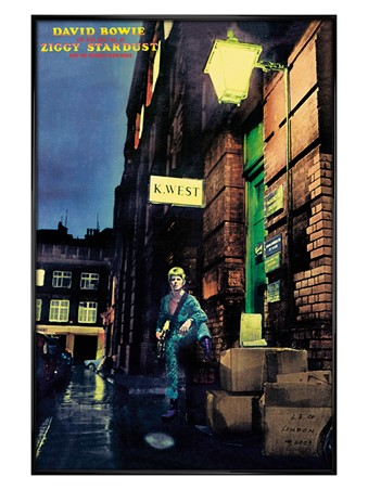 Gloss Black Framed Ziggy Stardust Album Cover - David Bowie