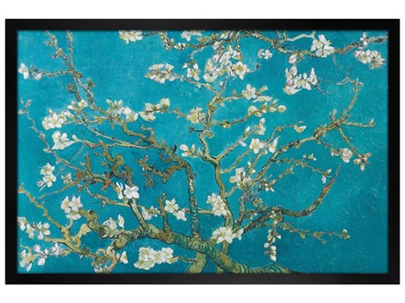Black Wooden Framed Almond Blossom (1890) - Vincent Van Gogh