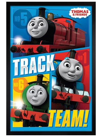 Black Wooden Framed Track Team - Thomas & Friends