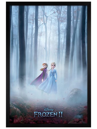 Black Wooden Framed Woods - Frozen 2