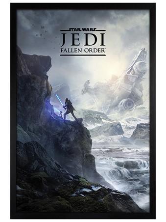 Black Wooden Framed Landscape Maxi Poster - Star Wars: Jedi Fallen Order