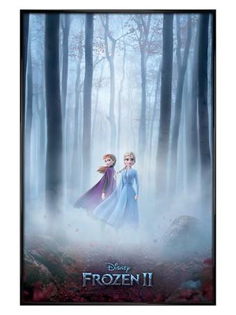 Gloss Black Framed The Enchanted Woods - Frozen 2