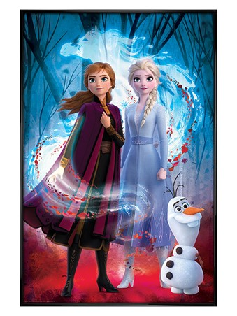 Gloss Black Framed Guided Spirit - Frozen 2