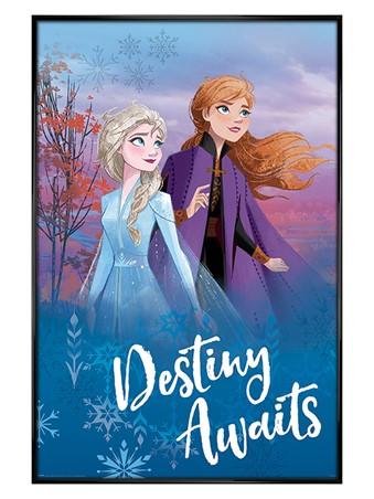Gloss Black Framed Destiny Awaits - Frozen 2