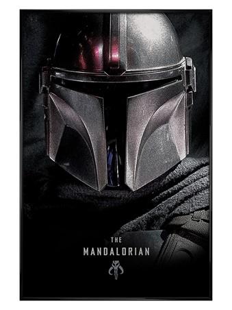 Gloss Black Framed Dark Maxi Poster - Star Wars: The Mandalorian