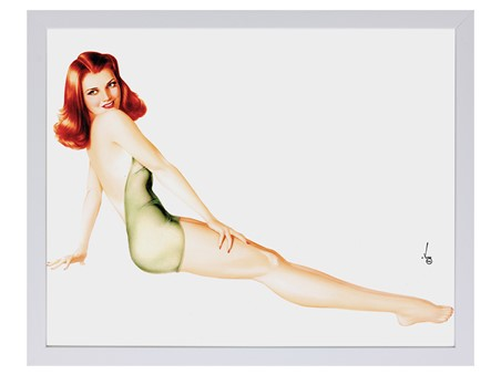 Pin-Up Girl - Redhead In Green - Alberto Vargas