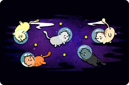 Cats In Space - Floating Felines